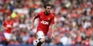 Juan Mata in action